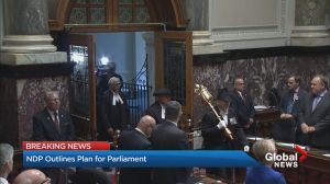 Analysis of NDP government's throne speech