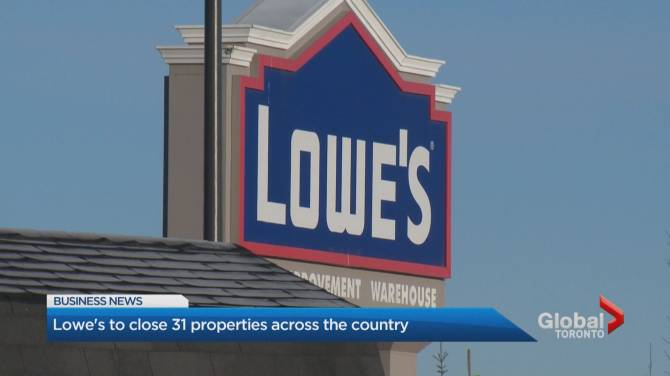 lowe's to close 27 stores, including rona locations, in canada