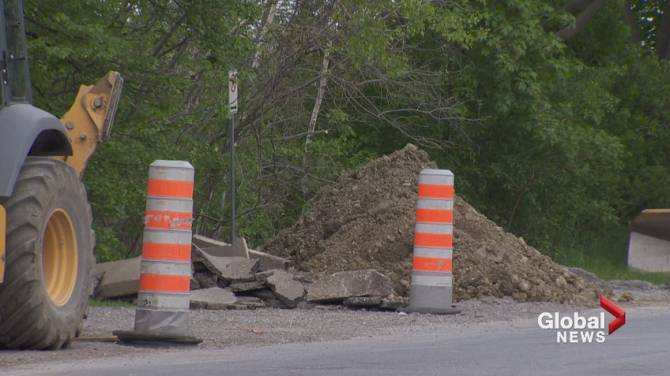 Construction on beaconsfield bike path halted during for West elm long island