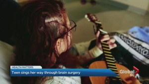 Teen sings her way through brain surgery