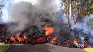 Lava creeps along Hawaii streets as Kilauea volcano intensifies