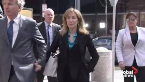 Actress Felicity Huffman arrives at federal court over college bribery scandal