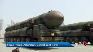 Trump praises UNSC vote on tougher North Korea sanctions