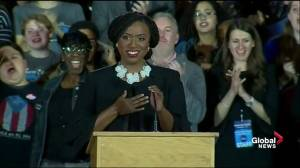 Midterm Elections: Ayanna Pressley gives impassioned victory speech after winning Massachusetts House seat