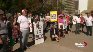 Opposing downtown protest spurs warning from U.S. Consulate in Calgary