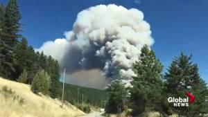 Wildfire breaks out in Joe Rich area near Kelowna (00:38)