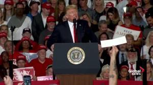 Trump continues 'mob' rhetoric about Democrats (01:33)