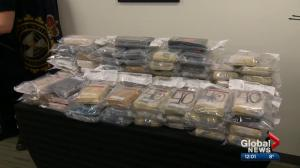 Record drug seizure at Alberta border crossing nets 84 bricks of suspected cocaine