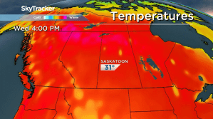 Saskatoon weather outlook: sizzling hot finish to spring
