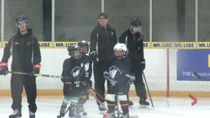 Corey Perry teaches NHL stars of tomorrow