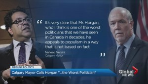 Calgary's mayor has harsh words for John Horgan