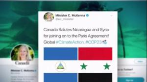 Environment Minister apologizes for tweet praising Syria