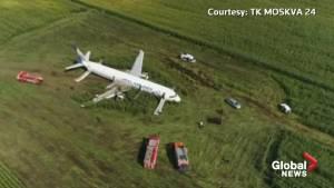 Russian jet makes 'miracle' emergency landing after striking flock of birds