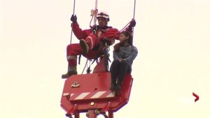 RAW: Woman stranded on Toronto crane facing mischief charge
