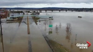 Fredericton remains underwater as St. John River continues to rise