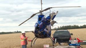 Pilot unsure if he'll fly home-built helicopter again after crash near Edmonton