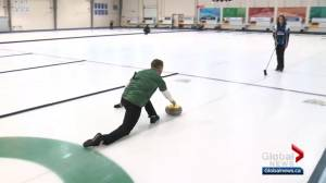 Curling: Edmonton Eskimo takes on Val Sweeting
