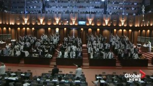 Chaos erupts in Sri Lanka parliament as new PM loses confidence vote