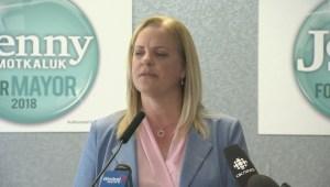 Winnipeg mayoral candidate Jenny Motkaluk outlines platform priority number two.