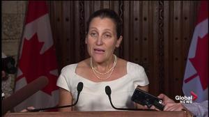 Canada making 'solid progress' in NAFTA negotiations: Freeland