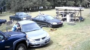 Florida alleged robbery suspects take off with property owner in back seat