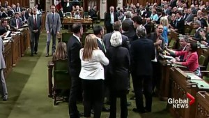 Trudeau under fire for scuffle in House of Commons
