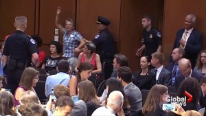 Protests continue on second day of Brett Kavanaugh Senate hearing