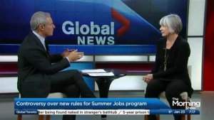 The controversy over the Liberal Government's Summer Jobs program