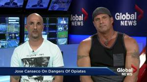 Baseball legend Jose Canseco discusses opioid addiction, sex abuse