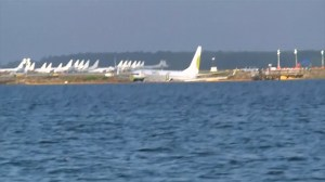 New images show Boeing plane hours after sliding off Florida runway