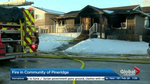 House fire in the community of Pineridge