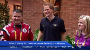 Prince Harry in town to promote Invictus Games