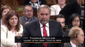 Mulcair questions Trudeau over future UN talks of nuclear disarmament