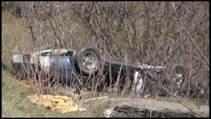 Rollover on County Road 36 near Buckhorn