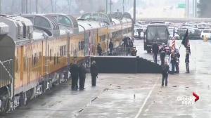 Bush funeral: Former president's casket loaded onto '4141' locomotive