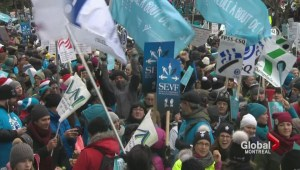 Quebec workers, teachers protest