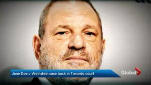 Harvey Weinstein's Toronto accuser's case in court