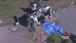 Teenage girl killed in crash near Caledon (01:03)