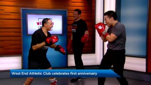 Celebrating the first anniversary of the West End Athletic Club