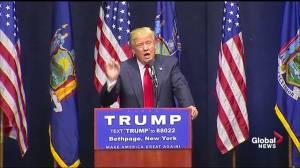 Donald Trump attacks 'Lyin' Ted Cruz at New York rally