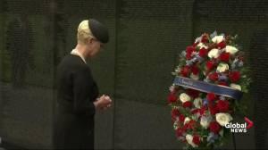 John McCain funeral: Cindy McCain honours senator at Vietnam Veterans Memorial