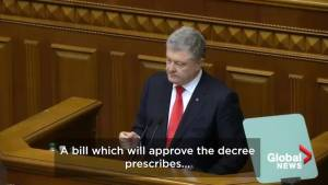 Ukraine votes for martial law in areas vulnerable to Russian attack