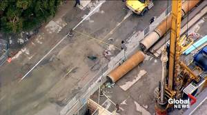 Part of Eglinton closed after sinkhole opens in midtown Toronto