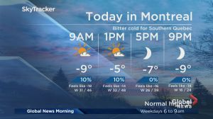 Global News Morning weather forecast: Wednesday, November 14