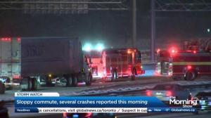 Toronto motorists urged to slow down during 1st snowfall of season