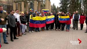 Calgarians rally in support of uprising in Venezuela