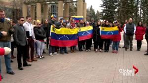 Calgarians rally in support of uprising in Venezuela