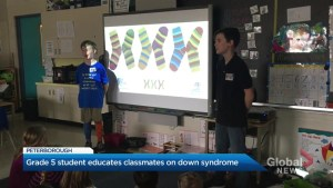Peterborough resident educates classmates at R.F. Downey on down syndrome