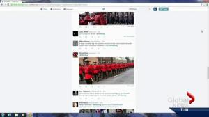 Outpouring of support on social media during Const. Daniel Woodall's funeral