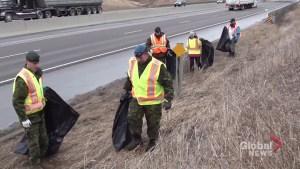 Highway of Heroes spring cleanup